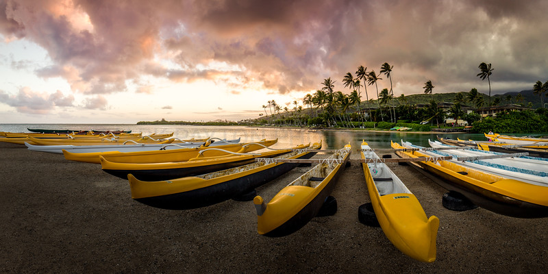 Maunalua Bay Outrigger Canoes