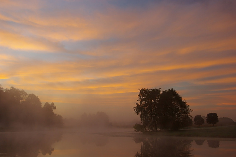Sunrise Over the Pond, Indiana