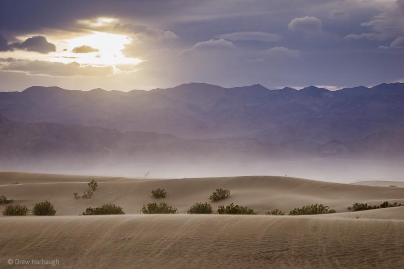 Mesquite Dunes Sunset Sandstorm
