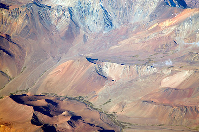 Flying northern Chile Flying through the mountains of northern Chile to the Atacama desert