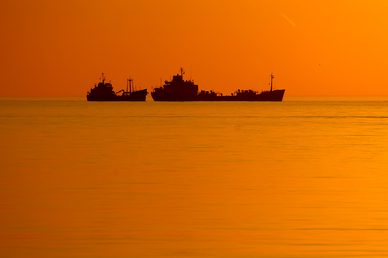 Ships at Sunrise