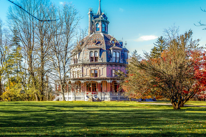 The Armour-Stiner (Octagon House), Irvington, NY.