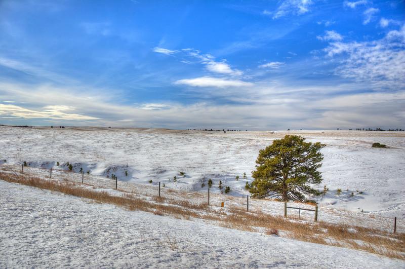 Snow in the Sandhills of Nebraska near Chadron