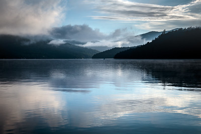 Reflected Clouds on Lake Placid