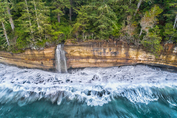 Mystic Beach Waterfall