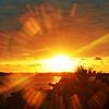 SUNBURST SUNSET TAMPA BAY