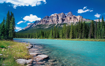 Castle Mountain & Bow River – Alberta, Canada