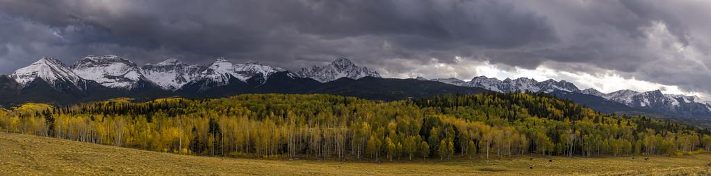 Mt. Sneffels mountain range near Ridgway, Colorado