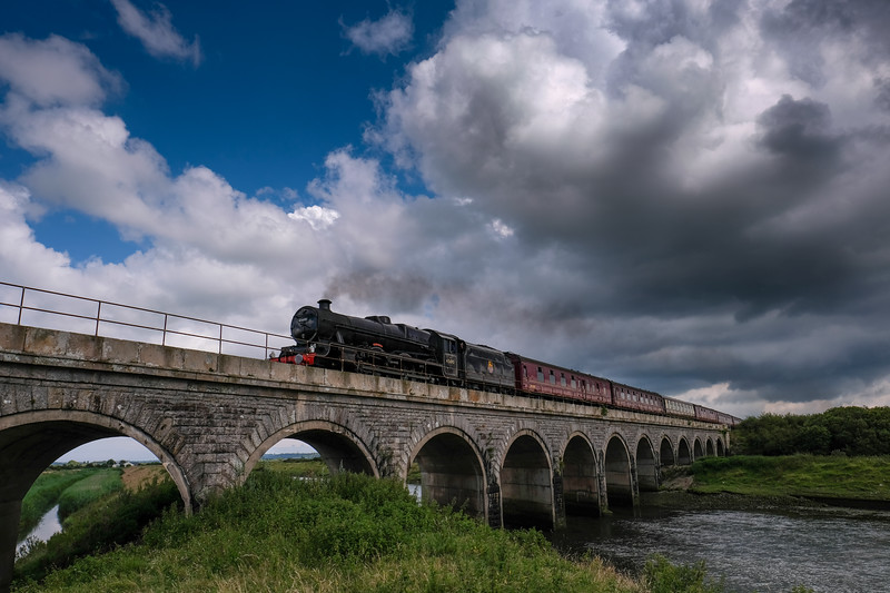 Flying Scotsman over Malltraeth Viaduct