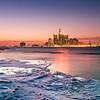 Detroit, Michigan, U.S.A. winter cityscape