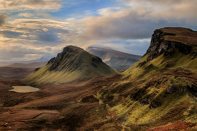 Trotternish mountain ridge from the Quiraing, Isle of Skye, Scotland