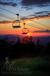 Chairlift Sunset 2
