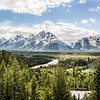 July 26 - Snake River overlook, Jackson Hole, Wyoming<br /> <br /> The location made famous by Ansel Adams.  The trees have grown up to block the bend in the river that he was able to capture.