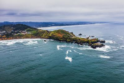 Yaquina Head Lighthouse Side Angle Offset