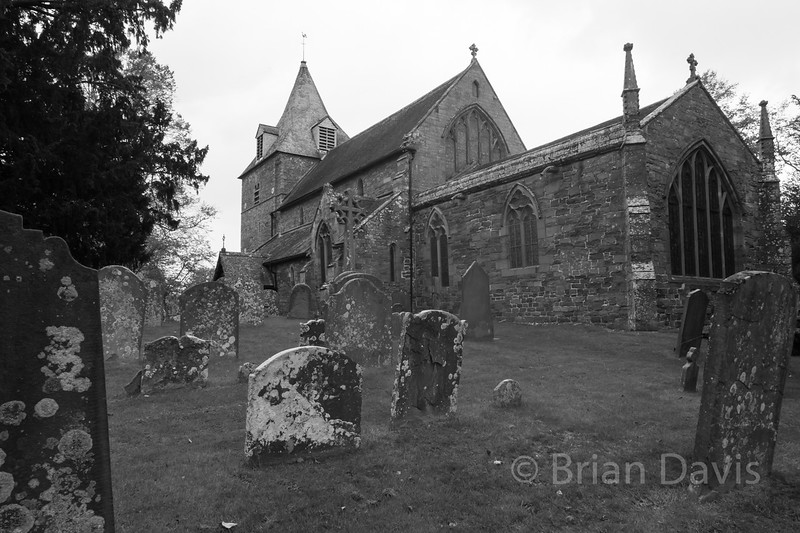 St Michaels Church, in Black and White.