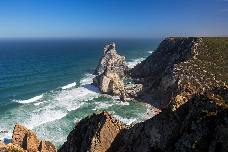 Rocky coastline and Atlantic ocean in Cabo da Roca