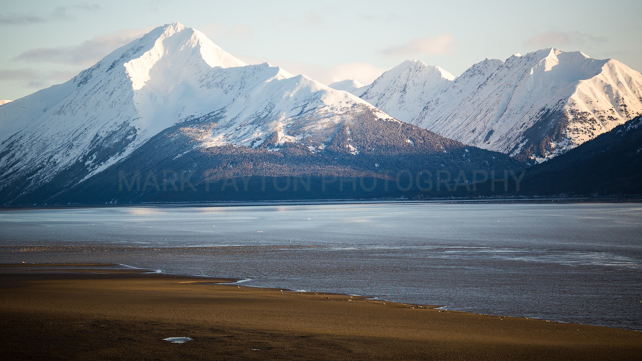 Turnagain Arm at Sunset<br /> <br /> Canon 5D MK III<br /> Canon EF 135mm f/2L USM<br /> Turnagain Arm, Alaska