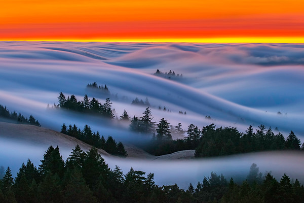 Fire Waves, Mt.Tamalpais State Park, CA