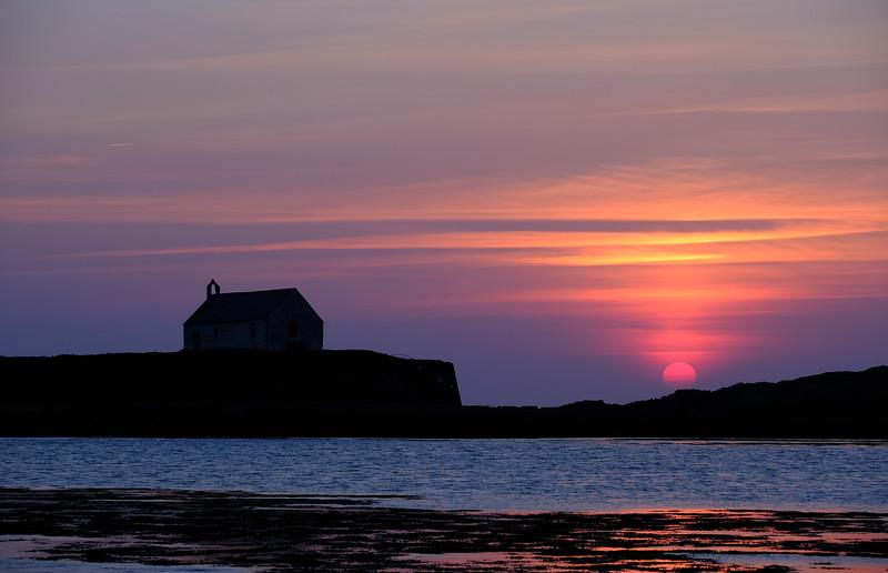 St Cwyfan's Sunset