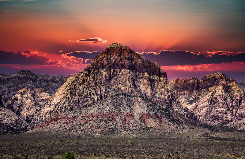 Sunset at Red Rock Canyon,