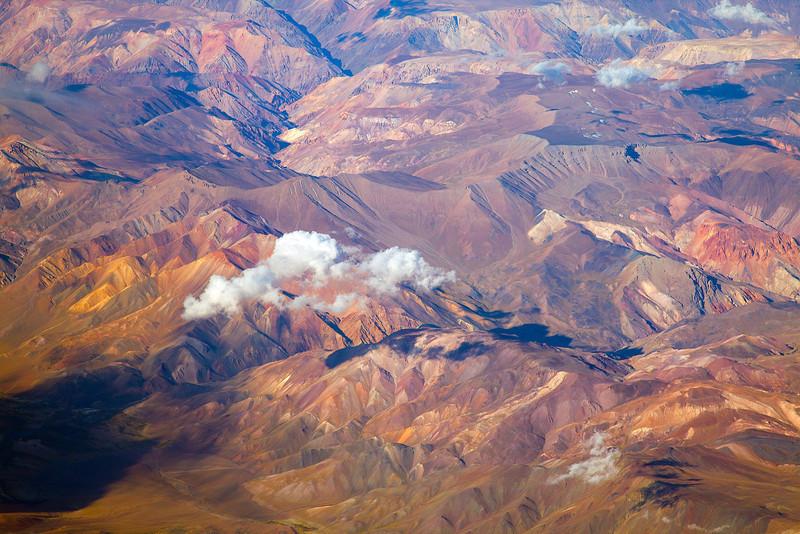 Flying northern Chile Flying northern Chile into the Atacama desert