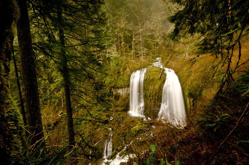 Upper McCord Creek Falls - Twin Falls