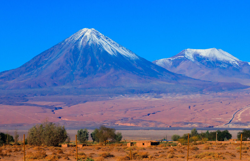 Dormat volcano east of San Pedro
