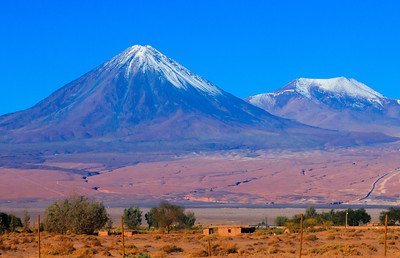 Dormat volcano east of San Pedro One of many volcano's along the western base of the Andes mountains, (just west of San Pedro de Atacama)