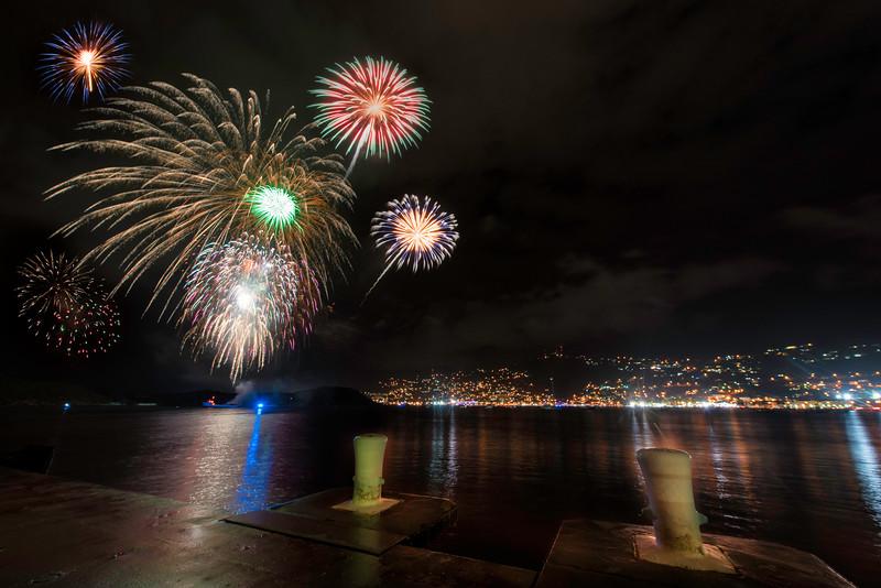 Fireworks Carnival 2017 from WICO Dock - St Thomas, USVI