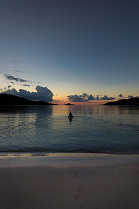 Footprints at Magens Bay, St Thomas USVI