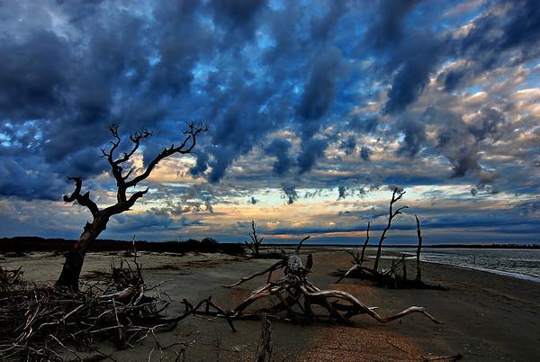Stormy Morning on Folly Beach, SC