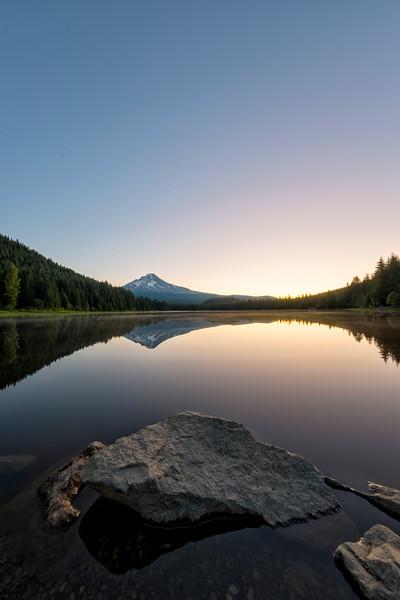 Trillium Lake Sunrise Fish Eye - Mount Hood-3