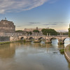 Castel Sant'Angelo and Ponte Sant'Angelo in Rome, Italy