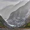Franz Josef Glacier. It has receded dramatically in the last few years. In fact it would have been where I was standing only 15 years ago!