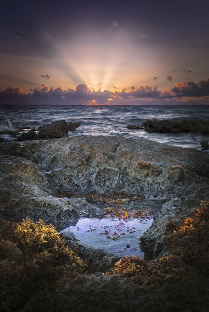 Rock Pool Sunrise - Mexico