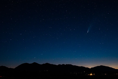 Comet Over Sawatch, Salida, CO