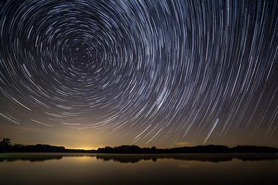 Star Trails - Kokosing Lake, OH