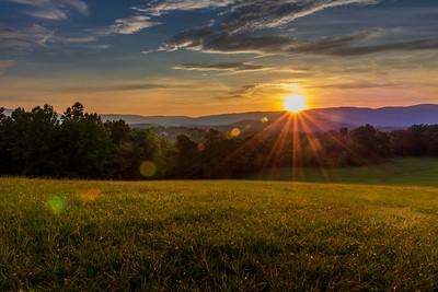 Charlottesville Sunset Rays
