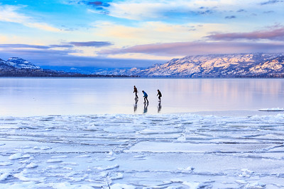 Day 15: Skaters on Okanagan Lake