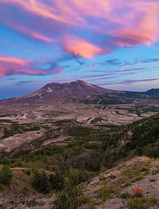 Mt St Helens - summer sunset