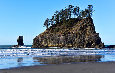 Beautiful rugged coastline of La Push in Olympic National Park, Washington