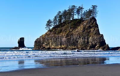Beautiful rugged coastline of La Push in Olympic National Park, Washington