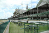 Looking into the grandstands at Churchill Downs, home of 2015 Triple Crown Winner American Pharoah