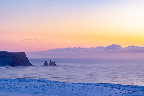 Dyrhólaey at dawn, Iceland