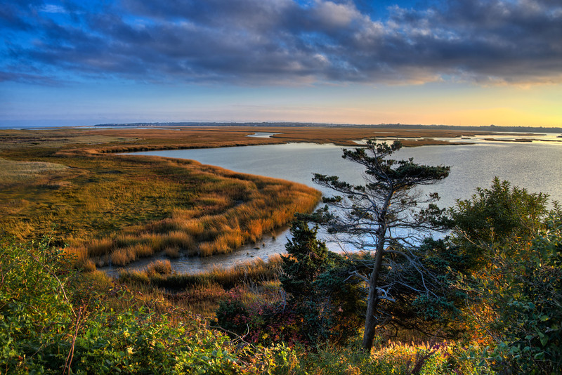 Sunset Over Nauset Marsh, Cape Cod, Massachusetts