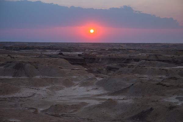 Sunset over NM Badlands