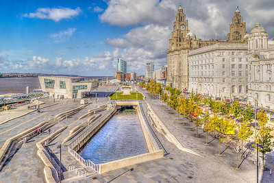 The Pier Head, Liverpool, England, October.