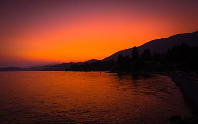 Fiery Vancouver Sunset