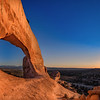Wilson Arch at sunset, Canyonlands National Park, Moab, Utah