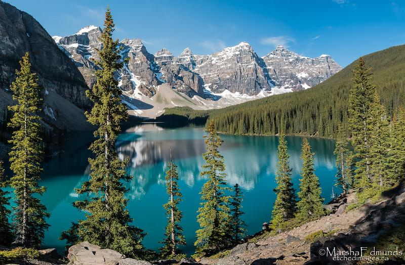Moraine Lake in Banff - A Panorama